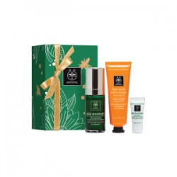 Apivita Cofre Navidad Face Radiance Sérum 30ml + Mascarilla 50ml Naranja + Crema Facial Iluminadora 5 ml
