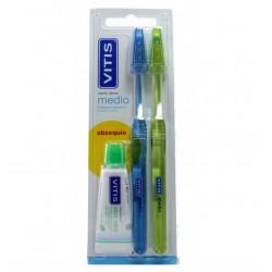 Vitis Cepillo Dental Adultos Medio Duplo
