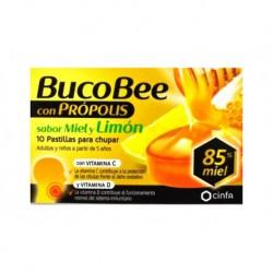 Bucobee Propolis Miel y Limón 10 comprimidos para Chupar