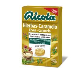 Ricola Caramelos Sin Azúcar Hiervas Suizas Y Caramelo