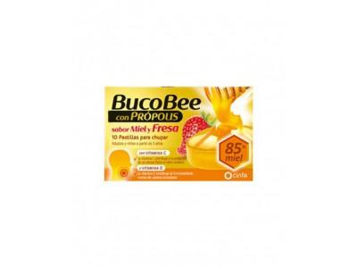 Bucobee Propolis Miel y Fresa 10 comprimidos para Chupar