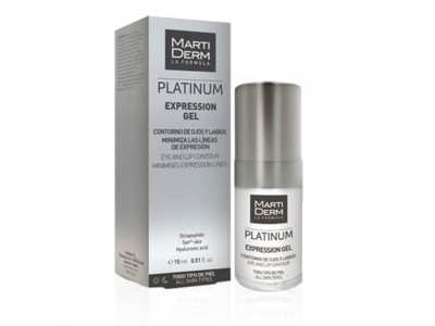 Martiderm Platinum Expression Gel Contorno Ojos Labios 15ml