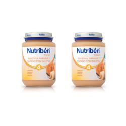 Nutriben Pack Potito Manzana, Naranja y Plátano Con Galleta 2x250g
