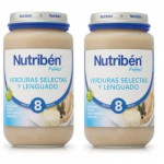 Nutriben Pack Potito Verduras Selectas y Lenguado 2x250g