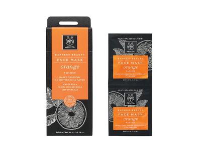 Apivita Express Beauty Mascarilla Naranja 2 uds 8ml