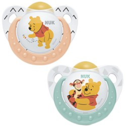Nuk Chupete Winnie the Pooh Silicona 6-18 meses 2 uds