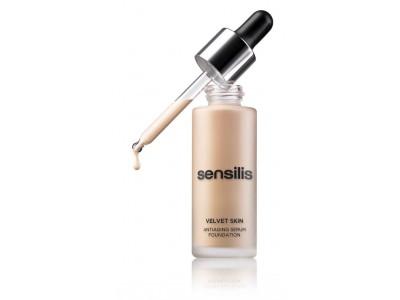 Sensilis Velvet Skin Maquillaje Antiedad 02 Amande 30ml
