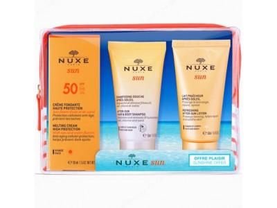 Nuxe Cofre Viaje Sun SPF50+Champú+Leche corporal