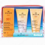 Nuxe Cofre Viaje Sun SPF50+Crema+Champú+Leche corporal