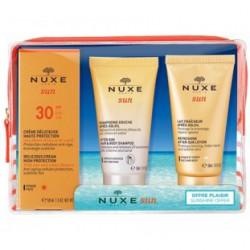 Nuxe Cofre Viaje Sun SPF30+Champú+Leche corporal