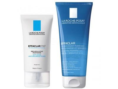 La Roche Posay Pack Effaclar Mat 40 ml + Effaclar Gel Purificante 300 ml