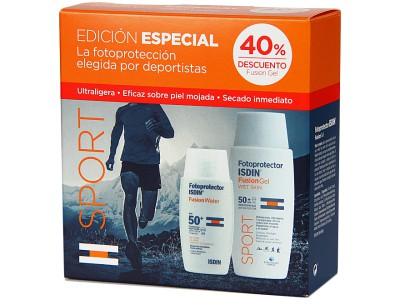 Isdin Pack Fotoprotector Fusion Water SPF50+ 50ml Y Fusion SPF50+Gel Body 100ml