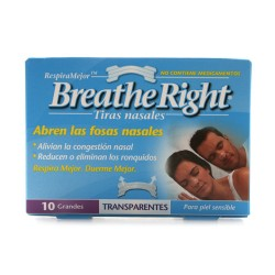 Tiras Nasal Breathe Right Transp.Grande 10 uds.