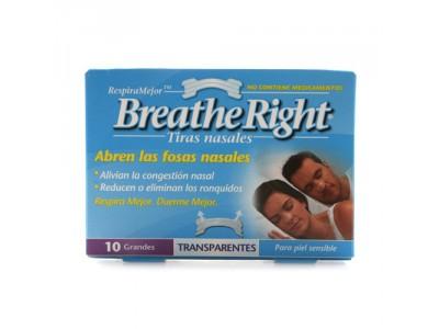 Tiras Nasal Breathe Right Transp.Grande 10 uds.