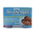 TIRAS NASAL BREATHE RIGHT TRANSP.GRANDE 10 UN
