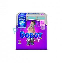 PAÑAL DODOT ACTIVITY T. 5 DE 13 A 18 KG. 32 UNID.