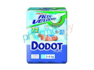 Pañal Dodot Etapas T. 2 de 3-6kg 86 uds.