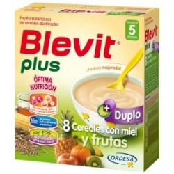 Blevit Plus Duplo 8 Cereales Miel Frutas 600g