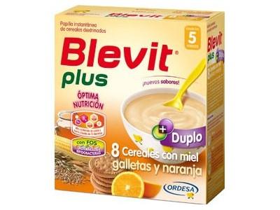 Blevit Plus Duplo 8 Cereales con Miel Galletas y Naranja 600g