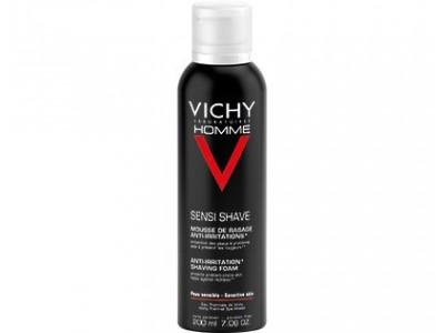 Vichy Homme Espuma Afeitar Pieles Sensibles 200ml