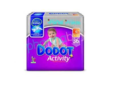 Pañal Dodot Activity Plus T. 4 de 9-15kg 36 uds.