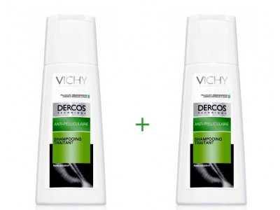 Vichy Dercos Champú Anticaspa Cabello Normal/Graso 200ml 2 uds.