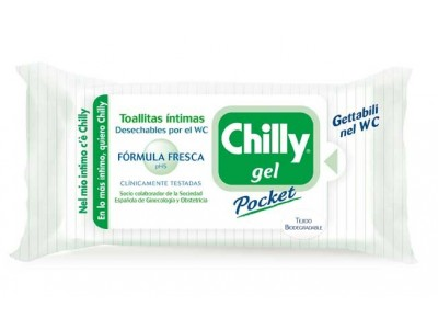 Chilly Gel Pocket Toallita Íntima F. Fresca 12 uds.