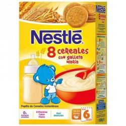 Nestlé Papilla 8 Cereales con Galleta 600g