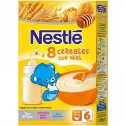 Nestlé Papilla 8 Cereales con Miel 600g
