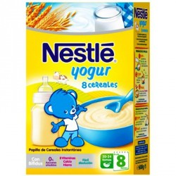 Nestlé Papilla 8 Cereales con Yogurt Bífidus 600g
