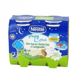Nestlé Cena Verduras Selectas y Lenguado 2x200g