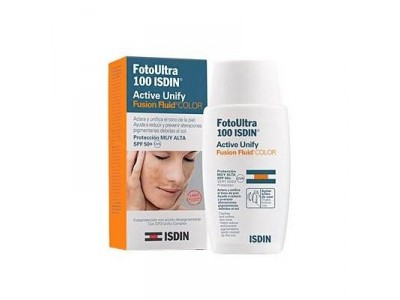 Isdin FotoUltra 100 Active Unify Fusión Fluid con color SPF50 50ml