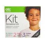 OTC KIT PERMETRINA 1,5 % LOCION + ACONDICIONADOR + SPRAY