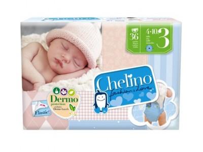 Pañal Infantil Chelino Fashion & Love T3 4-10kg 36 uds.
