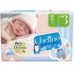 PAÑAL INFANTIL CHELINO FASHION & LOVE T3 4-10 KG 36U