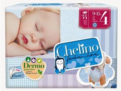 Pañal Infantil Chelino Fashion & Love T4 9-15kg 34 uds.