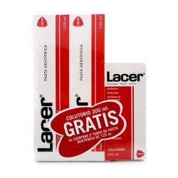 Lacer Pasta Dental 2 uds. 125ml + Colutorio 200ml