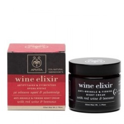 Apivita Wine Elixir Crema Noche Antiarrugas Reafirmante 50ml