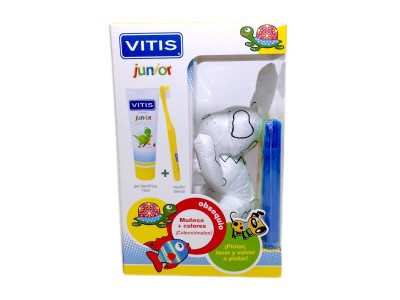 Vitis Junior Cepillo + Gel 75ml + Muñeco y Colores