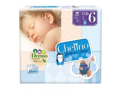 Pañal Infantil Chelino Fashion & Love T6 17-28kg 27 uds.