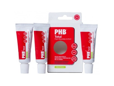 PHB Total Pack Recambio Pasta 3 x 15ml