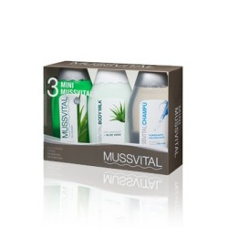 MUSSVITAL PACK MINI GEL + BODY + CHAMPÚ PURIFICANTE
