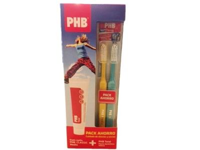 PHB Total Pack Pasta 100ml + 2 Cepillos Medio