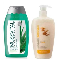 Mussvital Pack Body Milk Avena 300ml + Gel Aloe 300ml