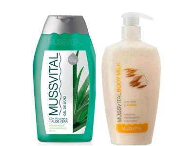Mussvital Pack Body Milk Avena 300ml + Gel Aloe 300ml