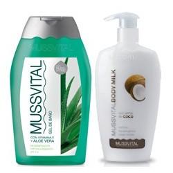 Mussvital Pack Body Milk Coco 300ml + Gel Aloe 300ml