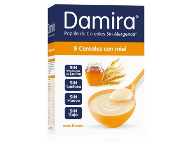 Damira Papilla 8 Cereales con Miel 600g