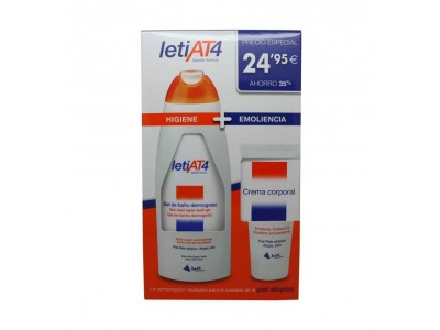 Leti At-4 Pack Gel de Baño 750ml + Crema Corporal 200ml
