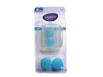 Tapones Oído Sanity Silicona Moldeable 6 uds.
