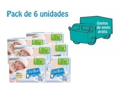 Pack 6 uds. Chelino Pañal Infantil T3 36 uds.